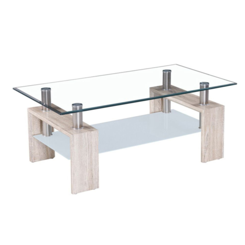 DURAN COFFEE TABLE SONOMA ΔΙΑΦΑΝΟ 110x60xΗ45cm