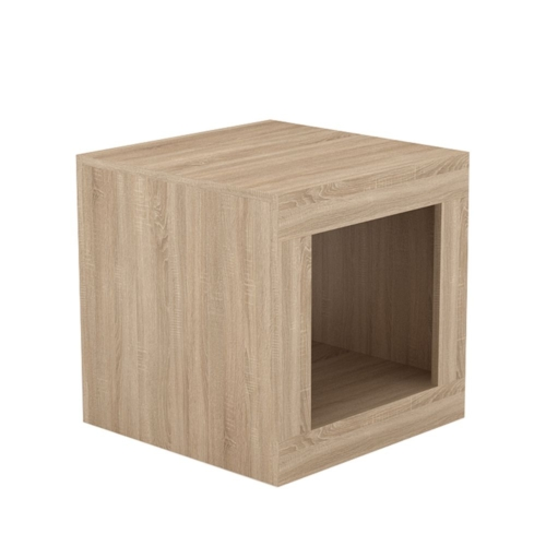 SORISSO 2 SIDE TABLE SONOMA ΣΚΟΥΡΟ 50x50xH50cm